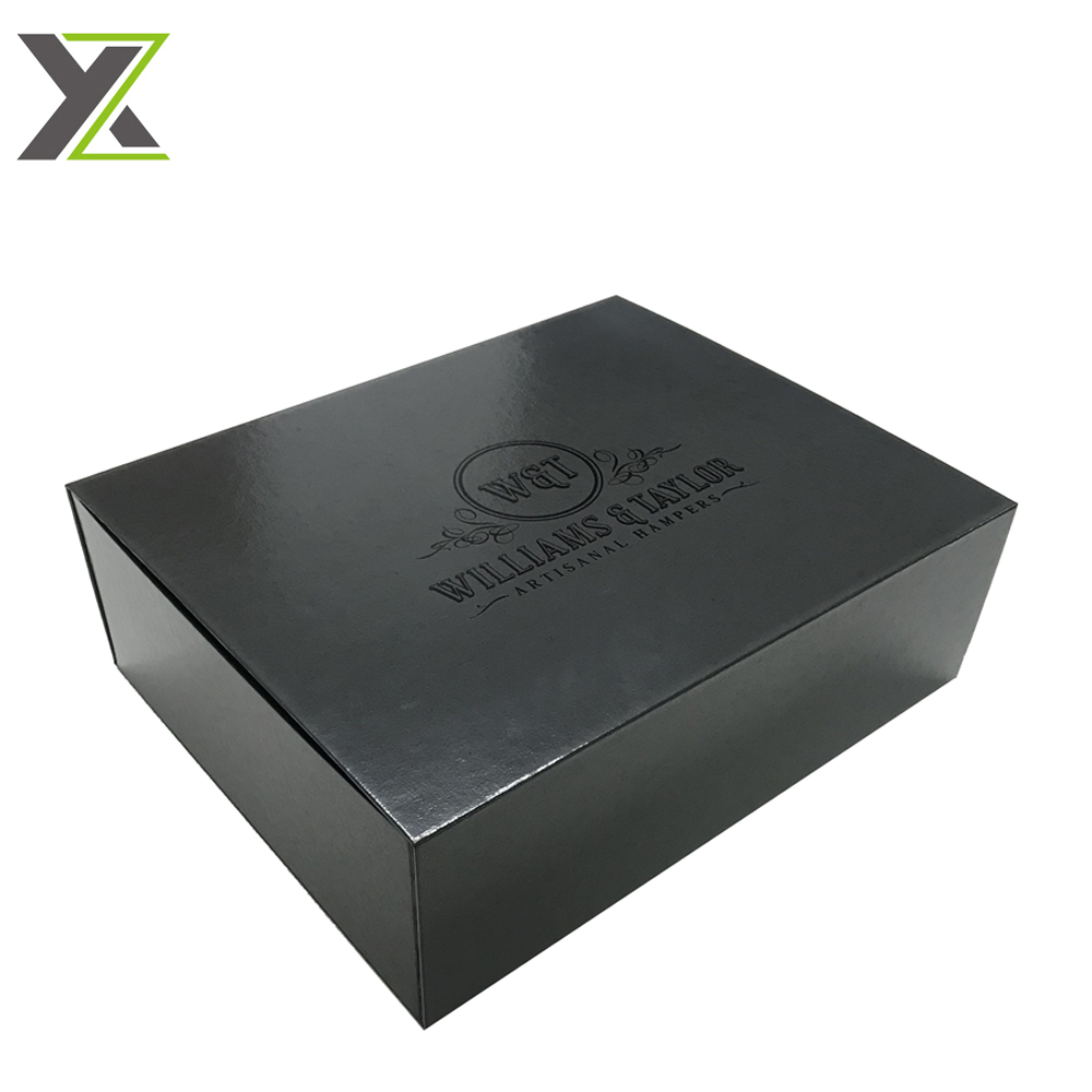 Book side open style foldable flat cardboard boxes with magnet for wine gift set