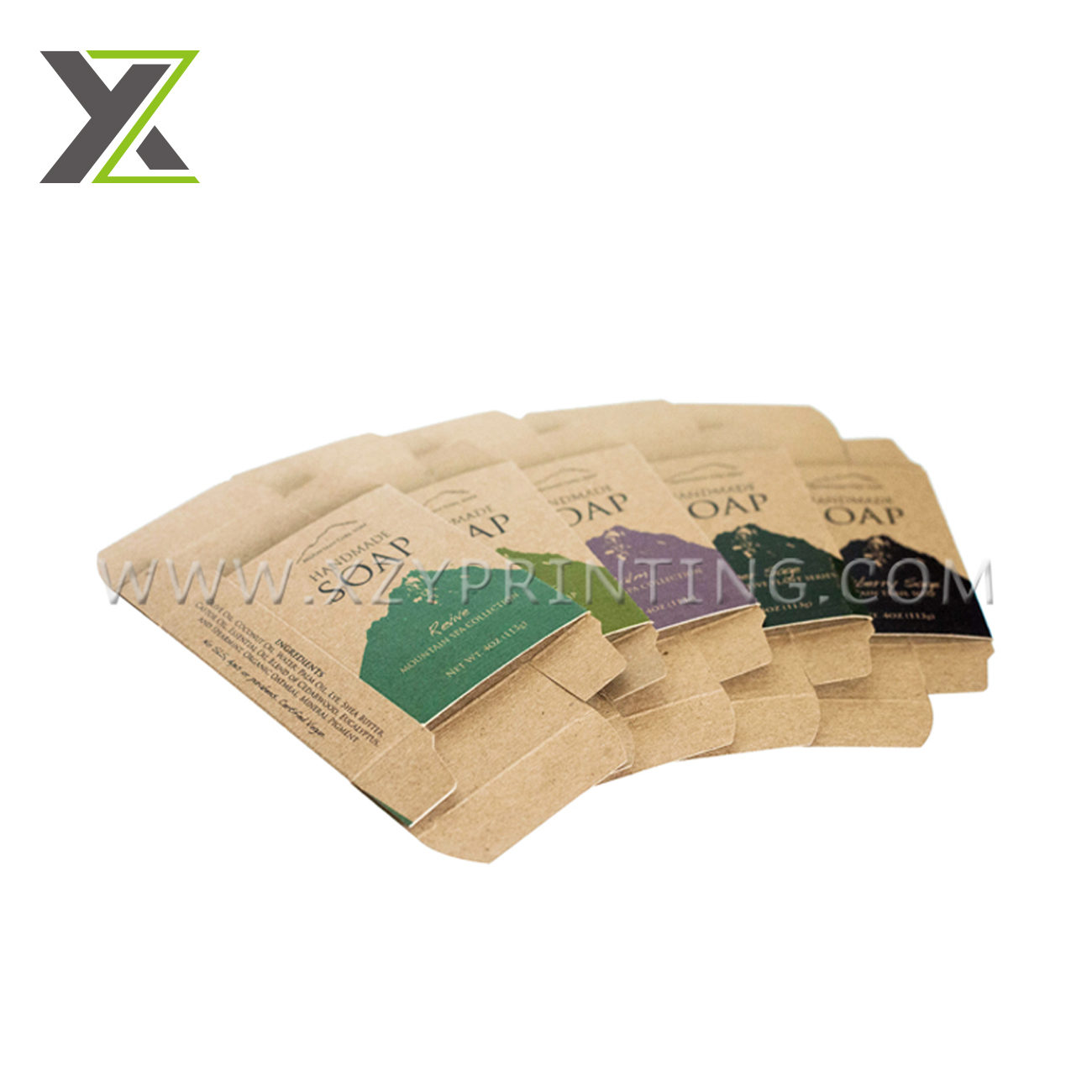 Fragrant eco-friendly top quality wholesale kraft paper soap box