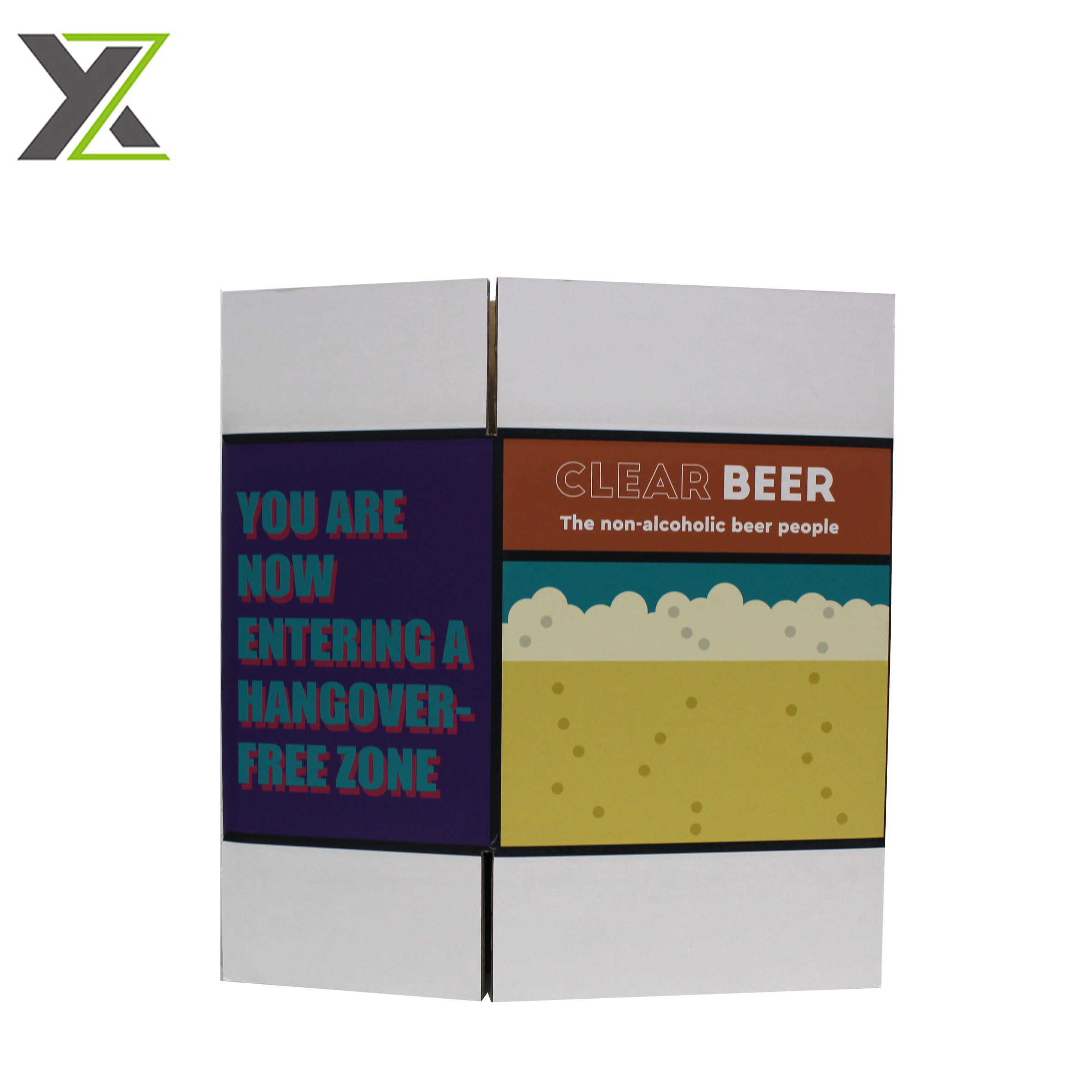 Manufacturer custom 6 bottles beer double wall carton boxes with divider